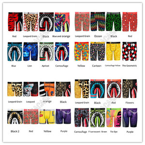 Hot Sales Designers Men Underwear 2020 Quick Dry Panties Long Boxer Briefs Shark Cartoon Printed Beach Shorts Pants Underpants S-2XL D81705