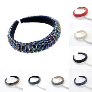 DHL Boho Kristallhaarband für Frauen-Mädchen-Hochzeit Breite Kopfbedeckung Barock Strass Haar-Band-Stirnband Valentinstag Geschenke DHE846