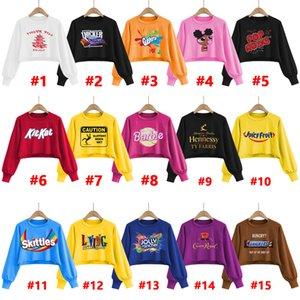 Mujeres sudadera con capucha Casual Patrón Diseñador Impreso Digital Tops cuello redondo suéter manga larga Moda para mujer ropa del ocio 2020