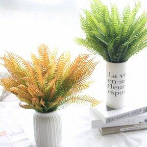 1Pcs Simulazione Fern Green Grass Pianta artificiale Fern persiani Foglie parete del fiore Hanging piante Casa Wedding Decoration fygM #