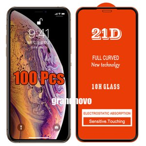 21D Full Glue Tempered Glass Curved Guard Premium Full Coverage Screen Protector Film For iPhone 12 Pro Max 11 XS XR X 8 7 6 6S Plus SE 2020