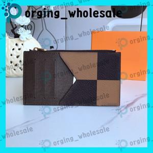 Tarjeta de la moneda del sostenedor porte carta titular de la tarjeta de cuero de alta calidad de titular de la tarjeta de crédito Hombres Mujeres Clásico Mini Banco Pequeño Delgado Monedero LB131 LB136