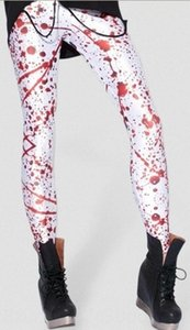 Starry Sky Digital printed white background bloody sexy tight pants Digital tight pants leggings Lgs3061