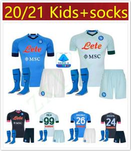 20 21 Napoli Jersey del fútbol de Nápoles 2020 2021 KOULIBALY INSIGNE Milik maillots H.LOZANO MERTENS MEN camisa de los niños de fútbol kit chicos establecidos Uniformes