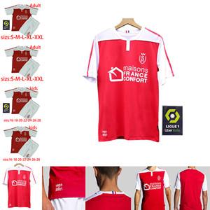 20 21 Stade Reims Maillots Maillots de football Adultes enfants kits Disasi Cafaro KONAN DIA Foket CHAVALERIN Zeneli 2020 2021 Reims pied Maillots de