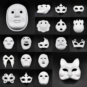 Маски DIY бумага Masquerade маска Halloween Party Cosplay мультфильм Маска Карнавал Бал лицо Женщина Carnaval Masque Prop DHF654