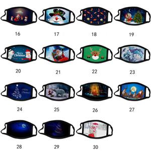 adulte Noël Calico masque dessin animé anti-buée couleur masque de Noël masques en coton lavable visage masque Masques Party design de mode Facemasks enfants