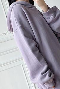 Women Hoodie Mid-length Sweatshirt Loose Oversized Soft Hooded Top