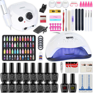 Nail Kit Poly Gel Set Lampe LED Nail Gel Polish Quick Set ongles construction Extensions Gel Polygel manucure Nails Décorations Art