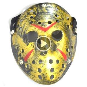 Arcaistic Jason Mask анфас Античная убийца Маска Джейсона против пятницы Te 13T Prop orror Окея alloween Костюм Cosplay Маски на складе Melanie