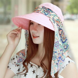 Summer Women Outdoor Beach Sunscreen Cap UV Protection Caps Sun Visor Hat Fashion Casual High Quality Sun Hat