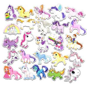 50 PC / sistema del juego del unicornio Graffiti Etiqueta del equipaje del bolso de la personalidad de bricolaje adhesivos de PVC de dibujos animados pegatinas de pared Accesorios niños y regalo Juguetes By1242