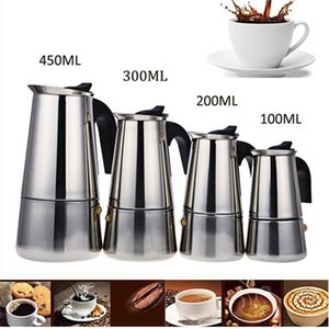 Electric Kettles 2 4 6 9 Cups Coffee Maker Pot Stainless Steel Mocha Espresso Latte Stovetop Filter Moka For Kitchen
