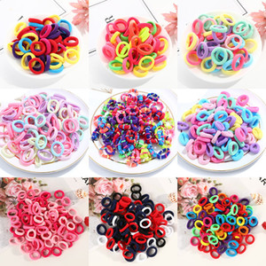 50 100pcs Baby Girls Colorful Small Elastic Bands Children Ponytail Holder Kids Headband Rubber Band Hair Accessories