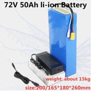 GTK alta capacidade de e-scooter de bateria de iões de lítio 72V 50Ah pacote de lítio com BMS para Ebike / triciclo + 84V 5A carregador.