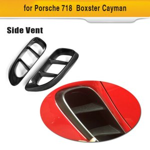 For Porsche 718 Boxster Cayman 16-18 Air Intake Side Scoop Blades Carbon Fiber