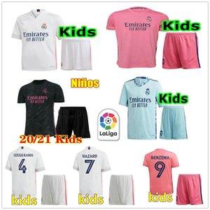 Jugend Real Madrid Soccer Jerseys 10 Modric Sergio Ramos Gefährdung Asensio Kroos Custom Kids Kind Junge 20 21 Torhüter Fußball Hemd Kit