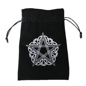 Сумка Организатор карты Бархатные сумки Защитные Толстые вышивки Drawstring Игры Pentagram 13x18cm карты Чехол для хранения Таро Совет Ydalo jjxh