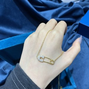 2020 neuer Entwurf heißen verkauf interessant Pin Halskette Mode vielseitig hängende Halskette Temperament vielseitig Kragen-Halskette der Frauen Neckla
