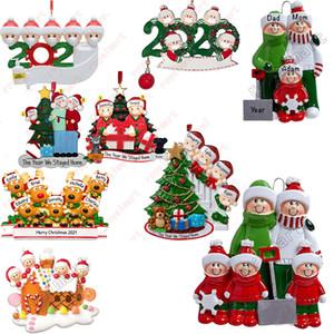 Ornamento de la Navidad DIY Saludos 2020 cuarentena fiesta de cumpleaños de Navidad distanciamiento social pandemia de Navidad accesorios pendientes de árbol
