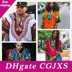 Africano Dashiki vestidos para as mulheres Vestuário Hippie shirt Caftan Unisex Vintage Tribal mexicana Top Bazin Riche Vestuário étnico M055