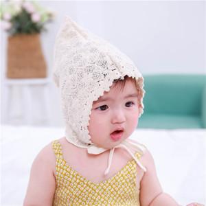 Coreano Spring Summer bebê e do verão do bebê da princesa meninas rendas cap pneu princesa cap Tribunal infantil