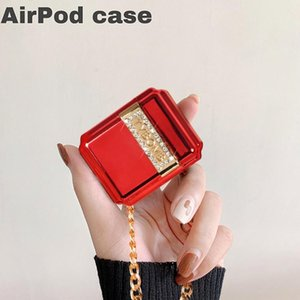 Cgjxs Tasarımcı Airpods Vaka Bluetooth Kablosuz Koruyucu Kapak İçin Airpods 1 / 2case Rhinestone Lüks Noble Kulaklık Shell Yeni --1