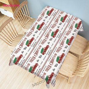 Red Car Natale camion Stampa Xmas Cotone Lino Hom decorativo pranzo Tovaglia escursioni impermeabile di copertura tovaglia di lino