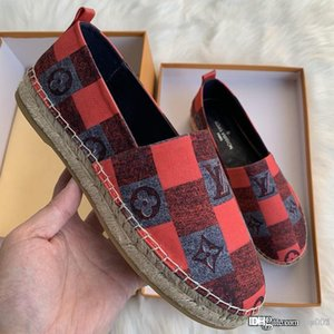 New 2020 STARBOARD FLAT ESPADRILLE luxury designer shoes 1A65PZ women's fisherman shoes fashion casual canvas hemp rope top quality 01
