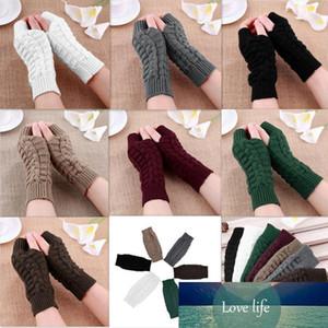 Gants de femmes élégantes main gants d'hiver plus chaud femmes Bras Crochet à tricoter faux laine Mitten chaud Gants fingerless, femme D18110806 gants