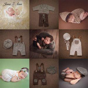 Jane Z Ann Newborn Foto Baby Fotografie Spitze-Rock westliche Kleidung im europäischen Stil Weste Hose Hut Kleidung Requisiten UZFH #