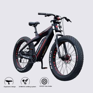 Benutzerdefinierte Carbon-Faser-Elektro-Schnee-Fahrrad 26inch Vet Ebike 48V750W Bafang Motor Super Light Weight Männlich Weiblich Bike