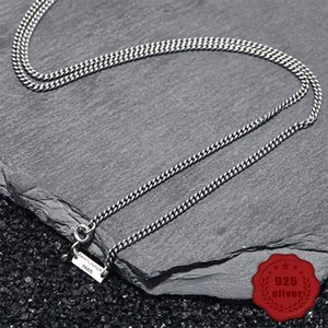 925 sterling silver retro necklace male sweater chain long student wild fashion personality simple style send lover new hot sale