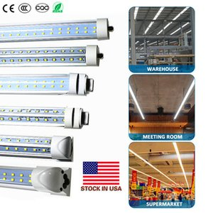 8 Foot LED Bulb Light 72W 120W T8 8ft LED Single Pin FA8 V Shaped SMD2835 LED Fluorescent Tube Lamp Stock In US