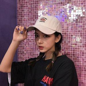fapo7 Летняя защита от солнца Корейского стиля модных вскользь вся-сопрягать вышитую любовь шнуровки пару женской шляпы Солнцезащитной Бейсболка бейсбол