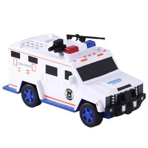 Presentes Fingerprint senha dinheiro Truck Car Electronic Music Piggy Bank papel moeda depósito em dinheiro Máquina Coin Saver Transporter crianças