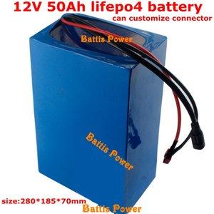 12v 50Ah LIfepo4 battery pack 12.8v Not lead acid 40ah 60ah for solar car motor bike vehicle UPS inverter use + 14.6v 5A charger