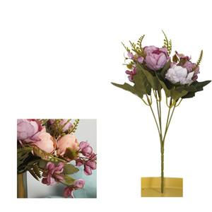 1 mazzo artificiale Peony bouquet di fiori di seta del Hydrangea di nozze decorazione domestica