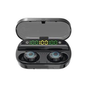 CGJXS8D Fone de Ouvido Sem Fio Bluetooth V5 .0 Esportes Headphone Sem Fio 3 Display LED Touch Control Fones de ouvido estéreo com fone de ouvido do microfone