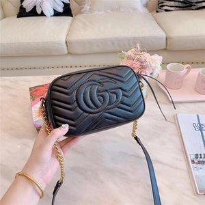Top design de luxe GG Mode Femmes en cuir véritable mini-Marmont d'or sacs à main épaule sac sac avec des numéros de série Box813