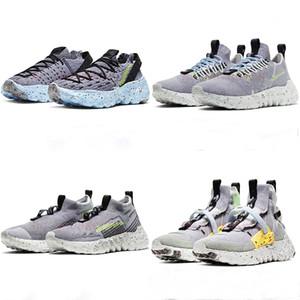 2020 Nueva pre-venta 01 02 03 04 Espacio Hippie Hombres Mujeres Zapatos casuales Volt Gray-Fluorescente Sneakers Green Sneakers Zapatos de alta calidad EUR 36-46