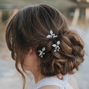 tEUkc Hand-woven lega capelli foglia U-clip damigella d'onore modellazione di Yiwu Bie Zhen Hand-woven lega pin foglio forcella U-clip bridesmai nozze