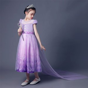 New Princess Girl's Flower Party Dress Little Girls Cosplay Summer Polyester Dresses Clothing Baby Kids Clothes