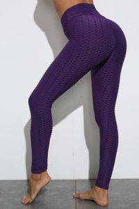 htzyhstore1 Fashion hip jacquard yoga pants sports hip leggings fitness pants women