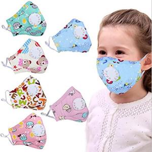 Kid's Masks Print Cotton Children's Cartoon Mouth Cover PM2.5 Mask With 2psc Filter Anti Haze Breathing Valve Mask Designer Masks