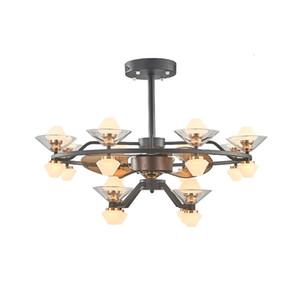 Fan lamba oturma odası yemek odası İskandinav minimalist modern gizli tavan fanı lambası