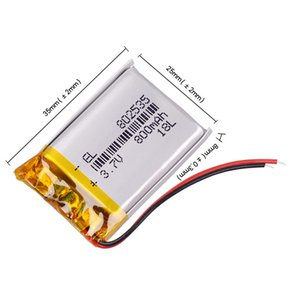 atteries Şarj Edilebilir Piller 3.7V 802.535 800mAh Li-ion Polimer Lityum Batarya Bluetooth kulaklık sütun DVR taşınabilir hoparlör bicyc ...