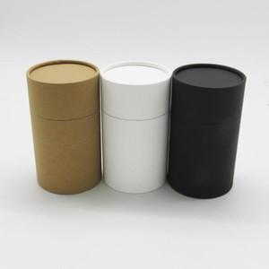 boîte en carton de la boîte kraft cylindar ronde tube d'emballage en carton pot de bouteille d'huile