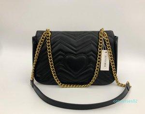4 colori Donne Borse Tracolle donne catena a tracolla moda trapuntato borse in pelle di cuore femminile famoso della borsa del progettista 26CM CO02