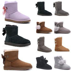 New Women Boots Boots Fashion Australia Invierno Boot Classic Mini Tkle Corta Ladies Girls WomensUggs Chestnut Navy Blu 3ZFT #